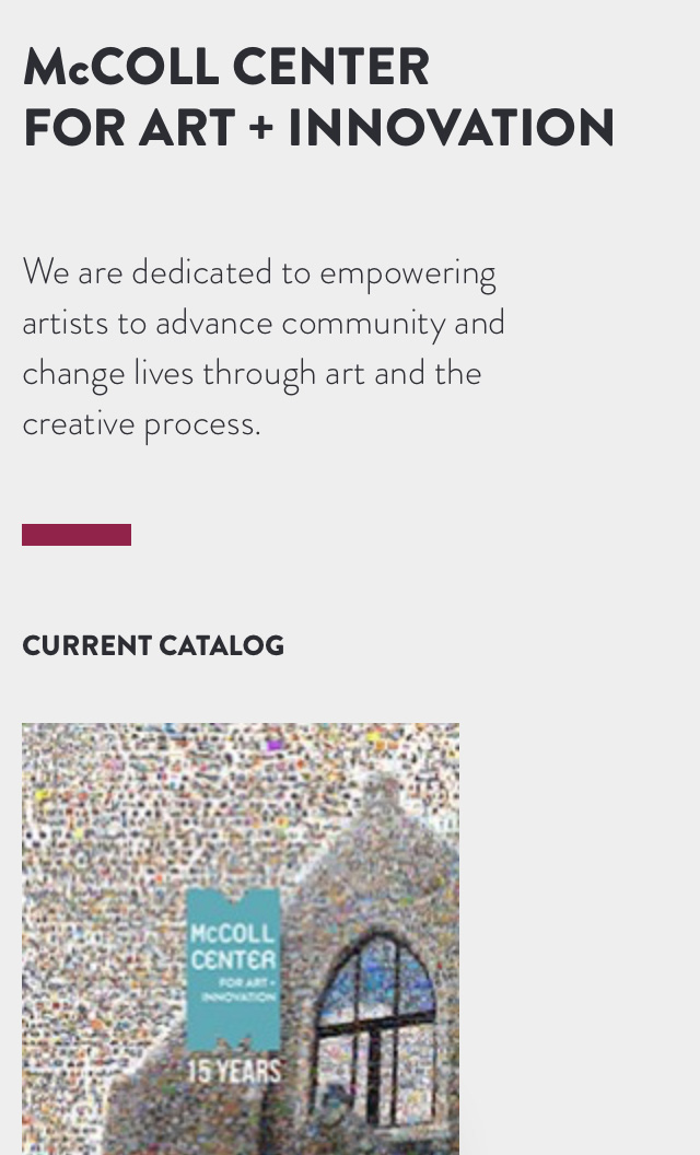 McColl Center for Art + Innovation Screenshot #2