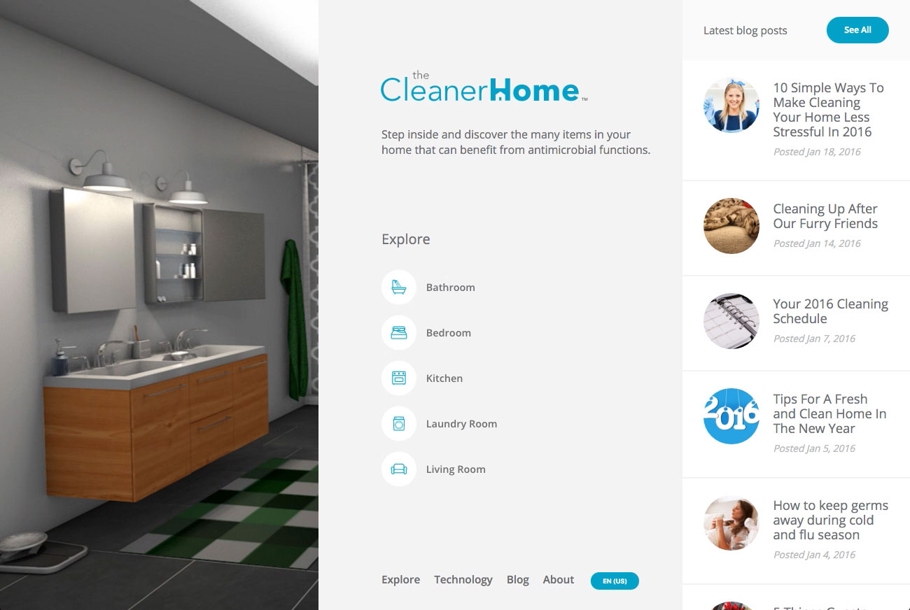 The Cleaner Home Screenshot #1
