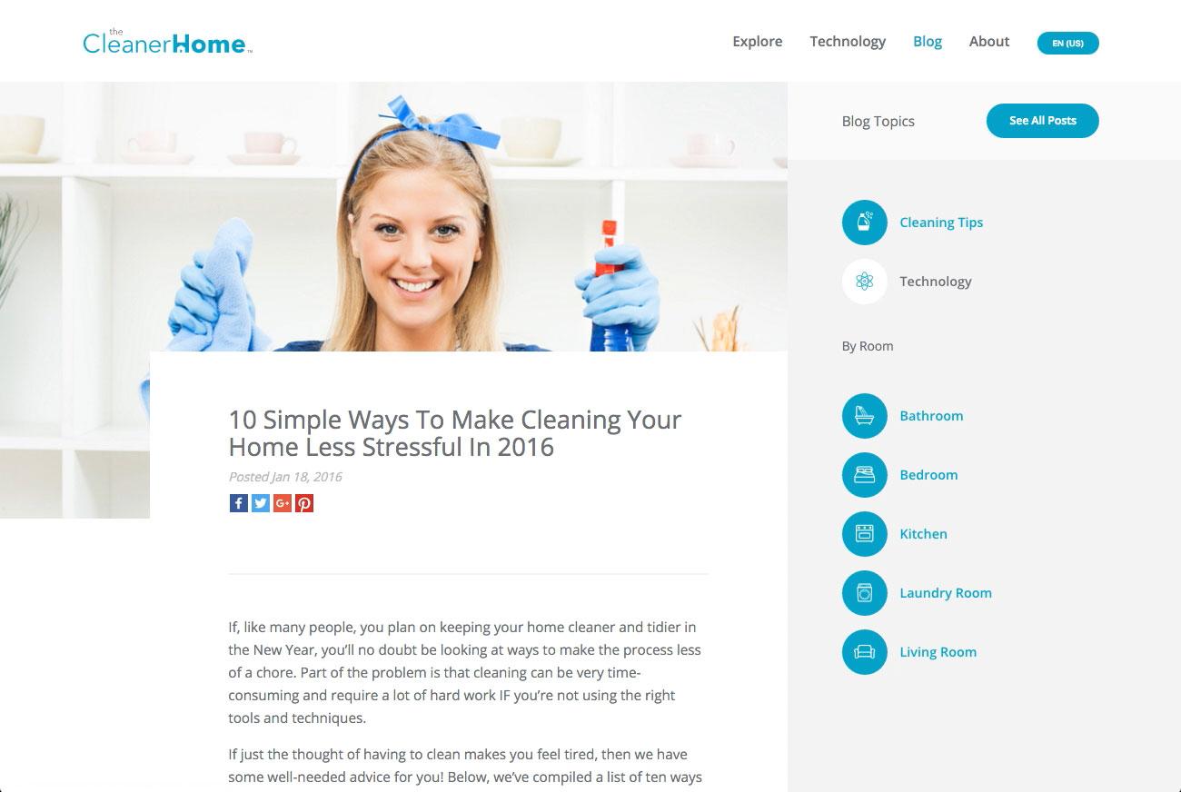 The Cleaner Home Screenshot #4