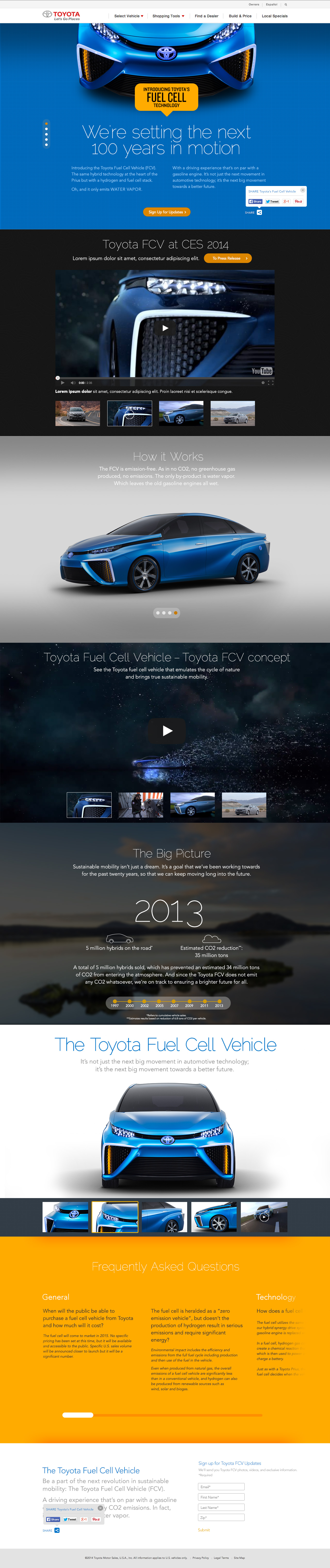 Toyota Fuel Cell Vehicle Screenshot #1